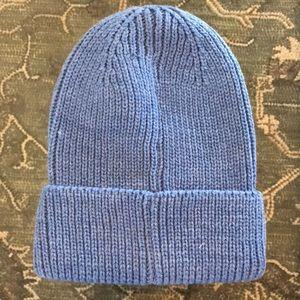 Trouve Cable Knit Beanie Blue NWOT